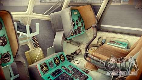 Mil Mi-8 Polish Air Force EUFOR für GTA San Andreas Rückansicht