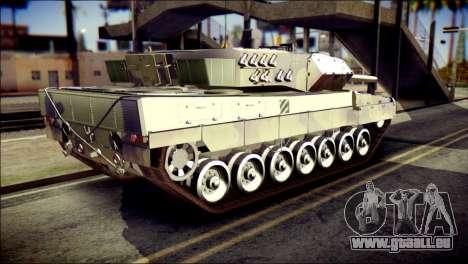 Leopard 2A6 PJ pour GTA San Andreas laissé vue