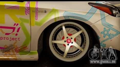 Toyota Prius Hybrid Eri Ayase Love Live Itasha pour GTA San Andreas vue arrière