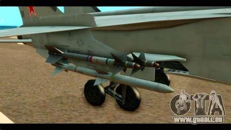 MIG-31 Soviet pour GTA San Andreas vue de droite