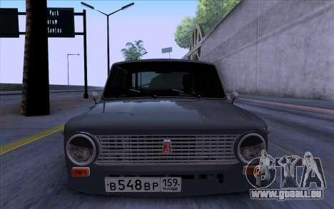 VAZ 2101 БПАN pour GTA San Andreas sur la vue arrière gauche