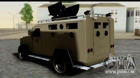 Camion Blindado pour GTA San Andreas laissé vue