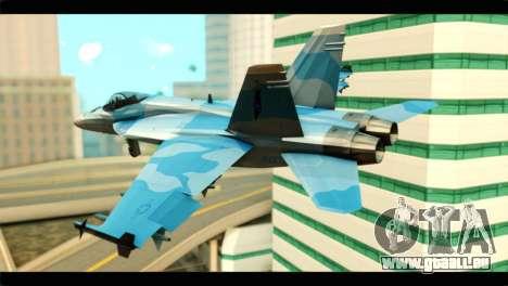 FA-18 Super Hornet Aggressor Squadron für GTA San Andreas linke Ansicht