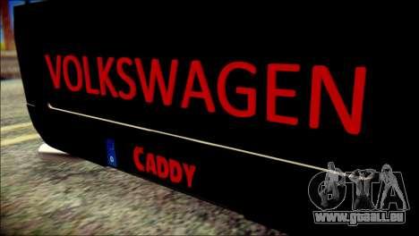 Volkswagen Caddy Widebody Top-Chop für GTA San Andreas Rückansicht