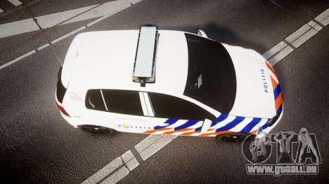 Volkswagen Golf Mk6 Dutch Police [ELS] pour GTA 4 est un droit