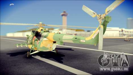 Mil Mi-8 Polish Air Force für GTA San Andreas linke Ansicht