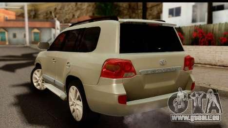 Toyota Land Cruiser 200 2013 pour GTA San Andreas laissé vue