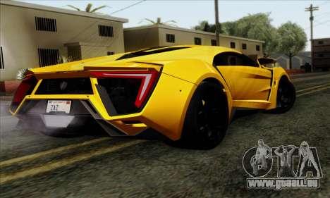 Lykan Hypersport 2014 Livery Pack 2 pour GTA San Andreas laissé vue