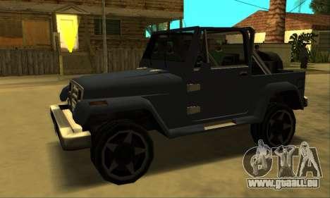 Mesa Final pour GTA San Andreas sur la vue arrière gauche