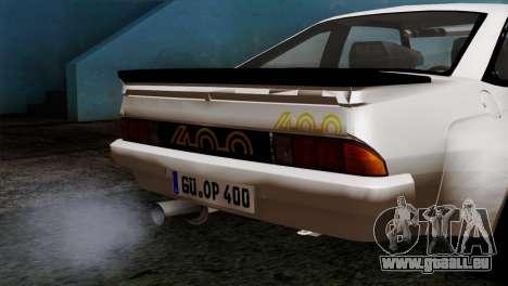 Opel Manta 400 v2 pour GTA San Andreas vue de droite