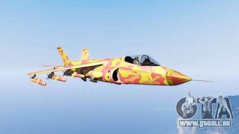 Hydra lava camouflage für GTA 5