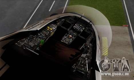 F-16C USAF Thunderbirds pour GTA San Andreas vue de droite