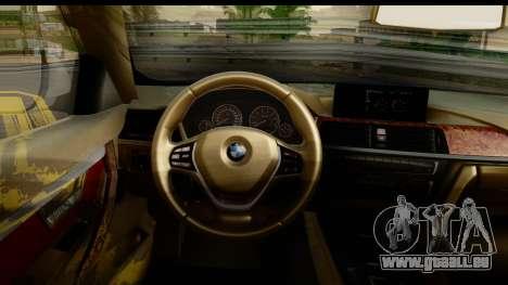 BMW 335i Coupe 2012 pour GTA San Andreas vue intérieure