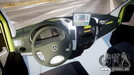 Mercedes-Benz Sprinter 311 cdi Belgian Ambulance pour GTA 4 Vue arrière