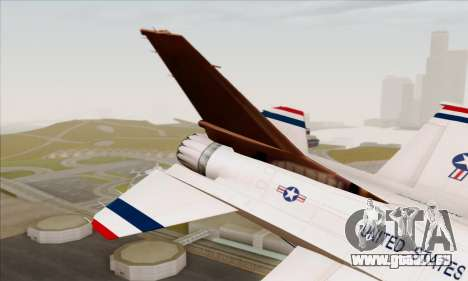 F-16C USAF Thunderbirds für GTA San Andreas zurück linke Ansicht