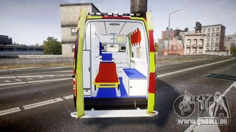 Mercedes-Benz Sprinter 311 cdi Belgian Ambulance pour GTA 4 est une vue de l'intérieur