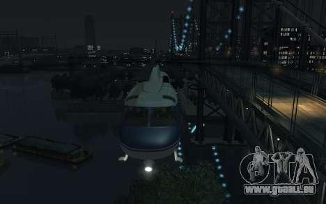 GTA III Police Valkyrie HD für GTA 4 hinten links Ansicht