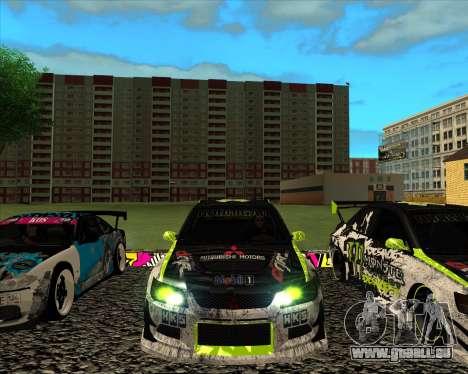 Mitsubishi Lancer Evolution IX Monster Energy DC für GTA San Andreas linke Ansicht