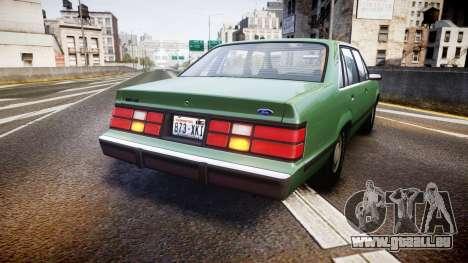 Ford LTD LX 1985 v1.6 pour GTA 4 Vue arrière de la gauche