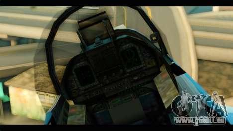 FA-18 Super Hornet Aggressor Squadron für GTA San Andreas Rückansicht