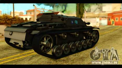 StuG III Ausf. G Girls und Panzer pour GTA San Andreas laissé vue