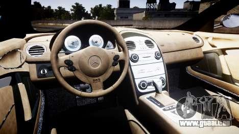 Mercedes-Benz McLaren SLR 2005 [EPM] pour GTA 4 Vue arrière