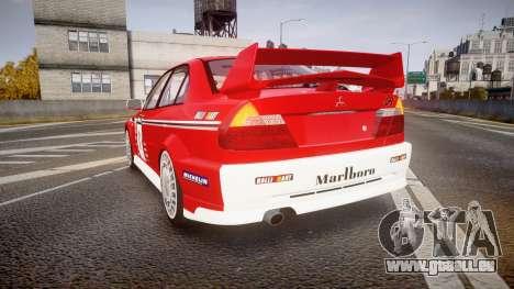 Mitsubishi Lancer Evolution VI 2000 Rally pour GTA 4 Vue arrière de la gauche