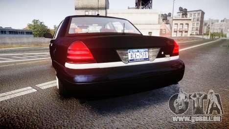 Ford Crown Victoria NYPD Unmarked [ELS] pour GTA 4 Vue arrière de la gauche