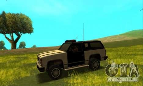 Beta Police Ranger für GTA San Andreas Rückansicht