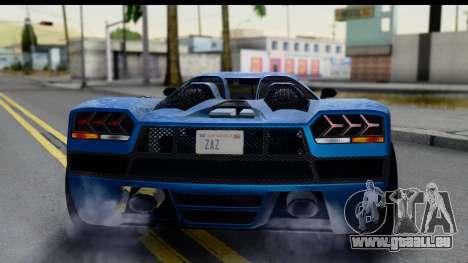 GTA 5 Overflod Entity XF IVF pour GTA San Andreas vue intérieure