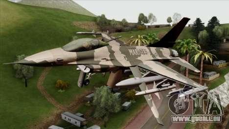 F-16C Top Gun für GTA San Andreas