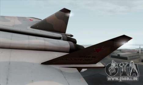 MIG 1.44 Flatpack Russian Air Force pour GTA San Andreas sur la vue arrière gauche