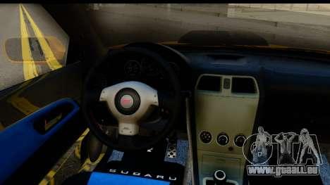 Subaru Impreza WRX STI 2005 Romanian Edition pour GTA San Andreas vue arrière
