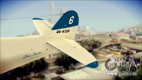 P-39N Airacobra JASDF Blue Impulse für GTA San Andreas zurück linke Ansicht