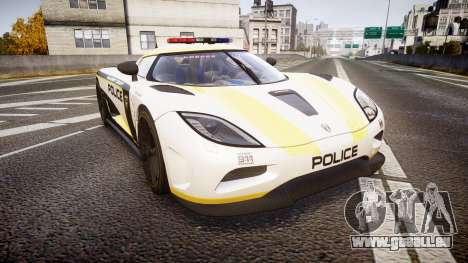 Koenigsegg Agera 2013 Police [EPM] v1.1 PJ1 für GTA 4