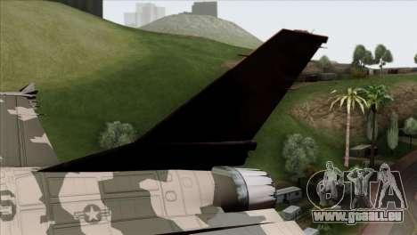 F-16C Top Gun für GTA San Andreas zurück linke Ansicht