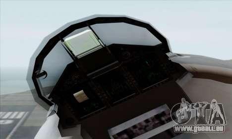 MIG 1.44 Flatpack Russian Air Force pour GTA San Andreas vue de droite