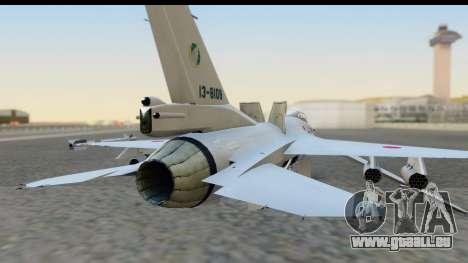 F-2A Zero White für GTA San Andreas Rückansicht