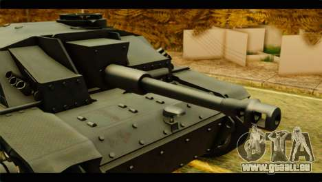 StuG III Ausf. G Girls und Panzer für GTA San Andreas zurück linke Ansicht