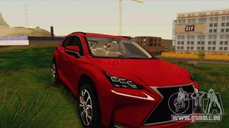 Lexus NX200T v2 pour GTA San Andreas vue arrière