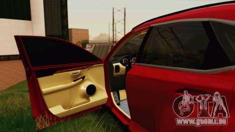 Lexus NX200T v2 pour GTA San Andreas vue de côté