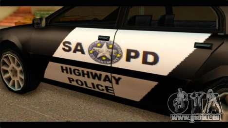 Stratum Police Highway v1.0 pour GTA San Andreas vue de droite