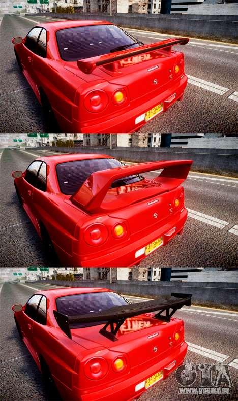 Nissan Skyline BNR34 GT-R V-SPECII 2002 für GTA 4 Innenansicht