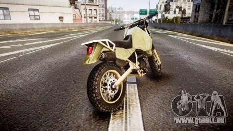 Dirt Bike pour GTA 4 Vue arrière de la gauche