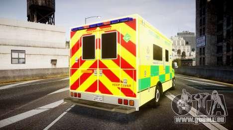 Mercedes-Benz Sprinter Ambulance [ELS] pour GTA 4 Vue arrière de la gauche