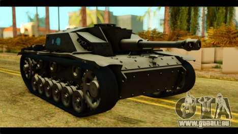 StuG III Ausf. G Girls und Panzer pour GTA San Andreas