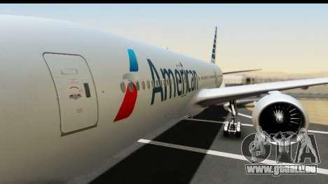 Boeing 777-200ER American Airlines pour GTA San Andreas vue arrière