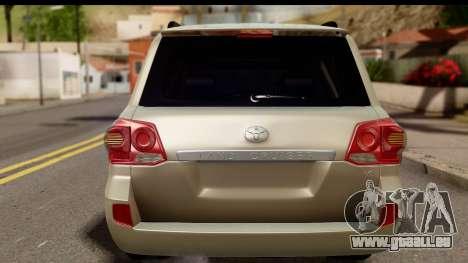 Toyota Land Cruiser 200 2013 pour GTA San Andreas vue de droite