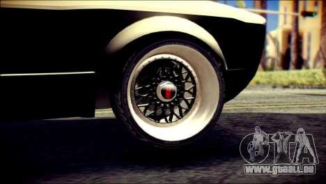 Volkswagen Caddy Widebody Top-Chop pour GTA San Andreas sur la vue arrière gauche
