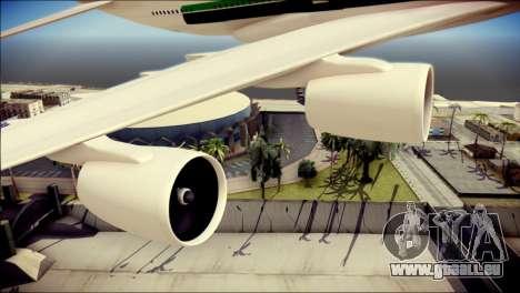 Airbus A380-800 Fly Emirates Airline für GTA San Andreas rechten Ansicht